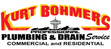 Kurt Bohmers Plumbing Inc logo in red and yellow